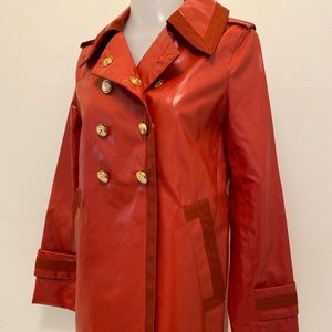 Marc Jacobs red trench coat XS rain jacket sailor